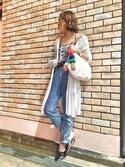 yuriさんの「pt(ピーティー) ポンポンストラップ(CANAL JEAN|キャナルジーン)」を使ったコーディネート