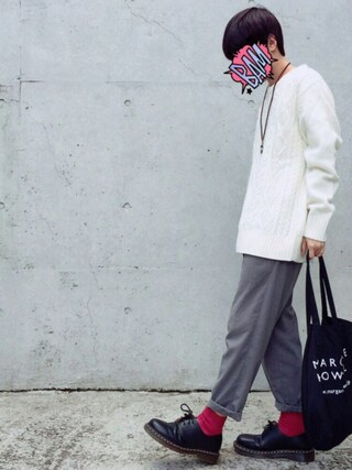 「Tabio MEN/メンズ 3×1リブベタショートソックス(靴下屋)」 using this せん@プチプラ looks