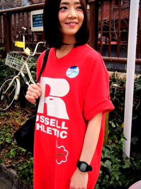 「RUSSELL×FRAPBOIS②(FRAPBOIS)」 using this FRAPBOIS_official_no.7|MATSUKO looks