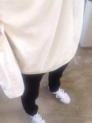YUUTAさんの「Lui's ワッフル編みドレープパーカー(Lui's|ルイス)」を使ったコーディネート