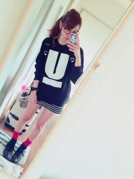 yuuko ¨̮⑅*さんの(Converse|コンバース)を使ったコーディネート