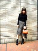 「Sophie Hulme 'Nano' Leather Crossbody Bag(Sophie Hulme)」 using this Tomo looks