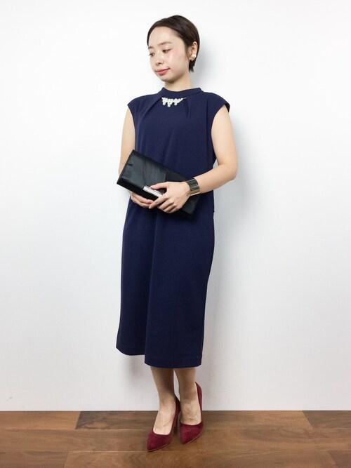 Rachelさんの「【ZOZO限定商品】ネックレス付ハイネックドレス