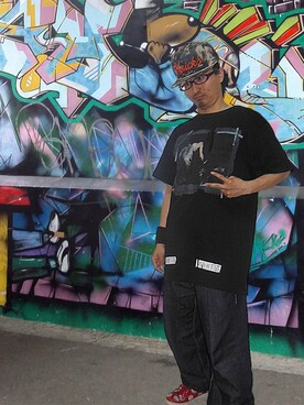 Stay Real Clothing|T-MurderThaHu$tlerさんの「OFF WHITE 『CARAVAGGIO』Tシャツ(off white)」を使ったコーディネート
