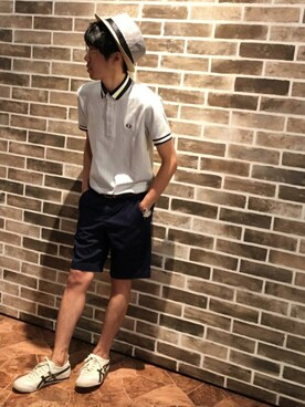 (FRED PERRY) using this ロンマイケル looks