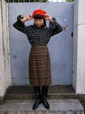 "CAMBIOさんの「Wrapping skirt ""RalphLauren""(RALPH LAUREN)」を使ったコーディネート"