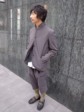 CAMBIOさんの「Re-make Cashmere Sweater『ink』(ink|インク)」を使ったコーディネート