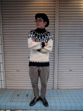CAMBIOさんの「Nordic Sweater」を使ったコーディネート