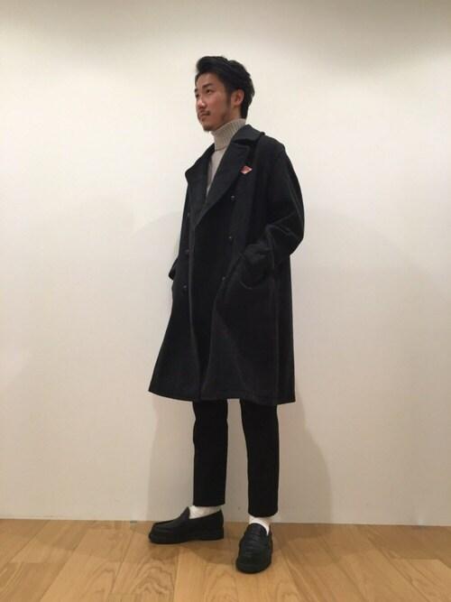 YOSHIOKAさんの「【DANTON ダントン】ライトモッサ ダブルコート(Danton)」を使ったコーディネート