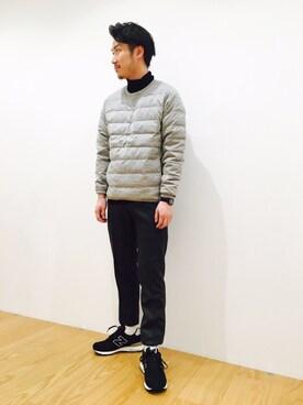 Bshop 有楽町ルミネ店|YOSHIOKAさんの「【nanamica】ダウン プルオーバー(nanamica)」を使ったコーディネート