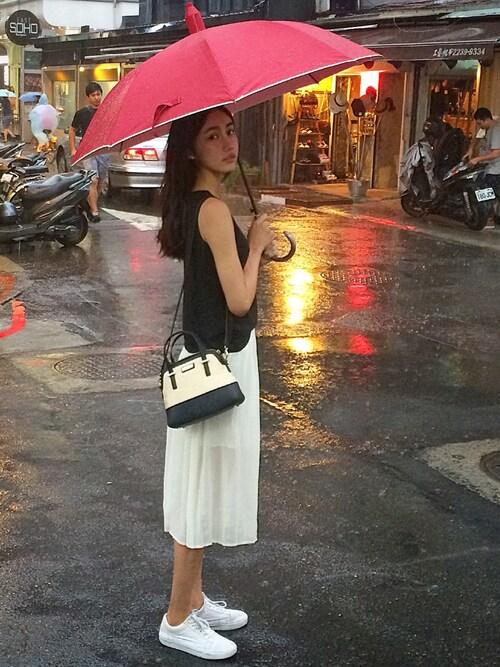 搭配vans球鞋(白色系)的女性时尚穿搭总览(身高:171cm