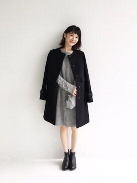 haco!|haco-on-acoさんの「NUSY パプコーン編みがかわいいおしゃれニットワンピース(haco!)」を使ったコーディネート