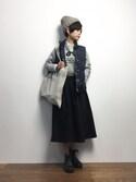yukiさんの「《追加》ナイロンタフタ ダウンベスト_#(JOURNAL STANDARD relume|ジャーナルスタンダード レリューム)」を使ったコーディネート