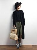 yukiさんの「スカートライクタックガウチョパンツ(UNRELISH|アンレリッシュ)」を使ったコーディネート