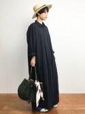 yukiさんの「カラーストライプ柄スカーフ(STYLE DELI スタイルデリ)」を使ったコーディネート