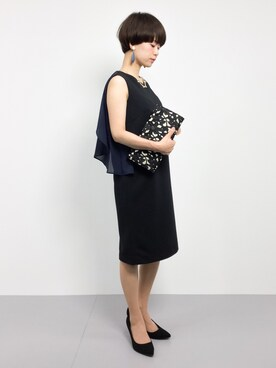 ZOZOTOWN|yukiさんの「(LL ACCESSORIES)B455J FLOWER MOTIEF CLUTCH BAG[