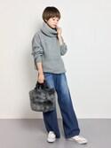 yukiさんの「<畑野ひろ子さん着用>デニムタックワイドパンツ(STYLEST スタイレスト)」を使ったコーディネート