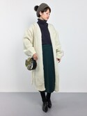 yukiさんの「タイトスリットスカート(ADAM ET ROPE' アダム エ ロペ)」を使ったコーディネート
