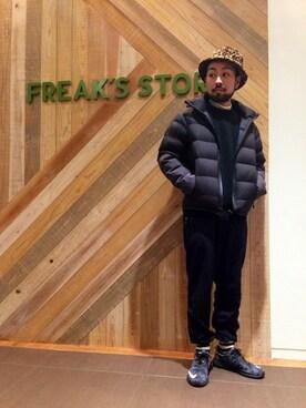 FREAKS STORE 福岡パルコ店|【FREAK'S STORE】 オオヌキさんの「撥水ストレッチパッカブルダウンジャケット(FREAK'S STORE|フリークスストア)」を使ったコーディネート