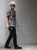 HOSHINOさんの「NEIL SUIT PANTS(CRIMIE|クライミー)」を使ったコーディネート