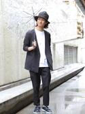KURE.さんの「Ken Kagami×JUNRed別注ビニール傘(JUNRed ジュンレッド)」を使ったコーディネート