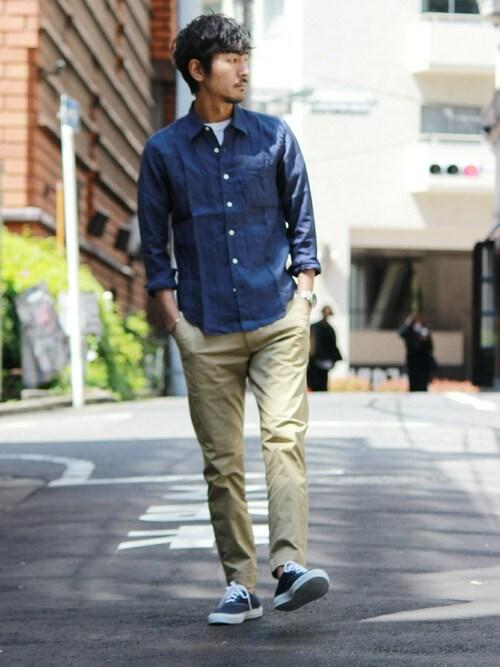 JOURNAL STANDARD 横浜店Sasaさんのシャツ/ブラウス「60/-リネンシャツ#(JOURNAL STANDARD ジャーナルスタンダード)」を使ったコーディネート