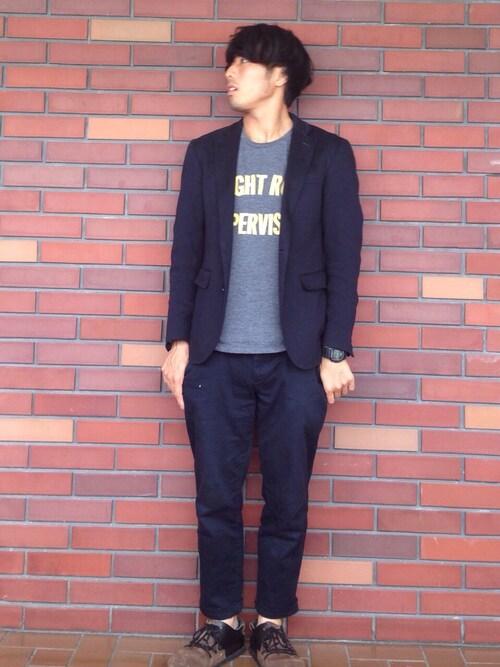 Fumiyaさんの「UR  フランダースリネンドビージャケット(URBAN RESEARCH)」を使ったコーディネート
