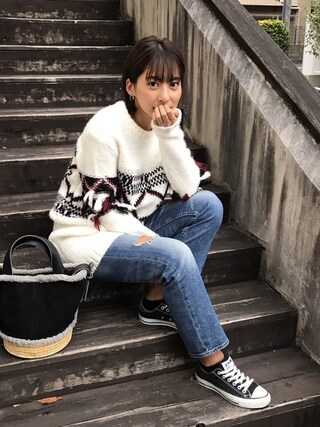 Vicente Official Office Vicente officialさんの「ダイヤフリンジスリーブニットワンピース(Vicente ヴィセンテ)」を使ったコーディネート