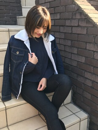 Vicente Official Office|Vicente officialさんの「デニムボアジャケット(Vicente|ヴィセンテ)」を使ったコーディネート