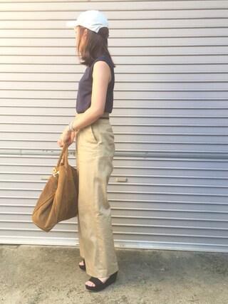 平井薫子さんの「◆CO/SI フレンチスリーブニット(Deuxieme Classe|ドゥーズィエムクラス)」を使ったコーディネート