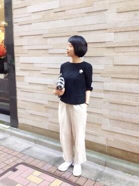 45R 東京ミッドタウン|ヤマダさんの「OGカディブラウス(45R)」を使ったコーディネート