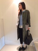 reico さんの「Rachel White Vintage Celine Medium Edge Bag(Celine|セリーヌ)」を使ったコーディネート