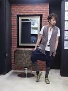 エスニックな中に、足元をサルエルパンツとカラータイツでスポーティーらしさを出してみました。 こんな組み合わせも好きです( ❝̆ ·̫̮ ❝̆ )✧