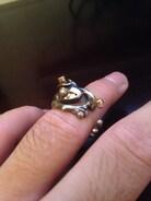 一目惚れで飼いました。いや、買いました。 18金とシルバーのリングです。 ハットとパイプがイカしてます( ✧Д✧) カッ!