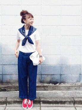 SIZUさんの「【GINZA 5月号掲載】VANS / AUTHENTIC(BEAMS BOY|ビームスボーイ)」を使ったコーディネート