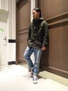 RAGEBLUEさんすて福山店|ふくちしょうへいさんの「オンブレチェックバンドカラーシャツ長袖/569134(RAGEBLUE|レイジブルー)」を使ったコーディネート