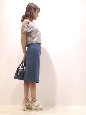 kamiseさんの「ラップデニムスカート(JILLSTUART)」を使ったコーディネート