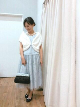 INTERPLANET WINGS 浜松市野店|NaNaさんの「ビジュークリップパーティバッグ(INTERPLANET WINGS|インタープラネットウィング)」を使ったコーディネート