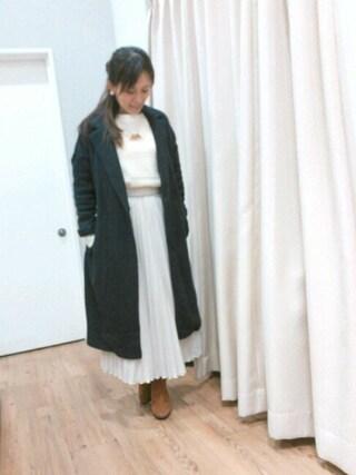 INTERPLANET WINGS 浜松市野店|NaNaさんの「クレープデシンプリーツSK(actuel|アクチュエル)」を使ったコーディネート