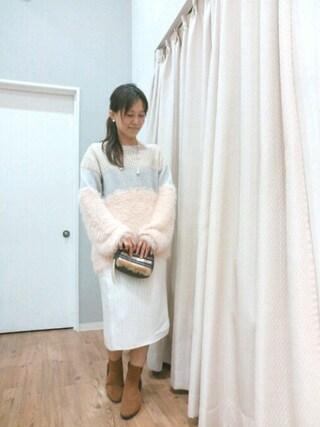 INTERPLANET WINGS 浜松市野店|NaNaさんの「異素材MIXニット(actuel|アクチュエル)」を使ったコーディネート