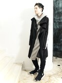 S/STEREFLAGSHIPSTOREKYOTOさんの「LINED CHESTER FIELD COAT(SISTERE|システレ)」を使ったコーディネート
