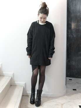 S/STERE FLAGSHIP STORE KYOTO|S/STEREFLAGSHIPSTOREKYOTOさんの「HOLD UP LONG SLEEVE SWEAT  [BLACK](SISTERE)」を使ったコーディネート