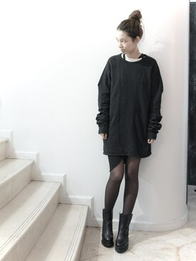 S/STEREFLAGSHIPSTOREKYOTOさんの「HOLD UP LONG SLEEVE SWEAT  [BLACK](SISTERE|システレ)」を使ったコーディネート