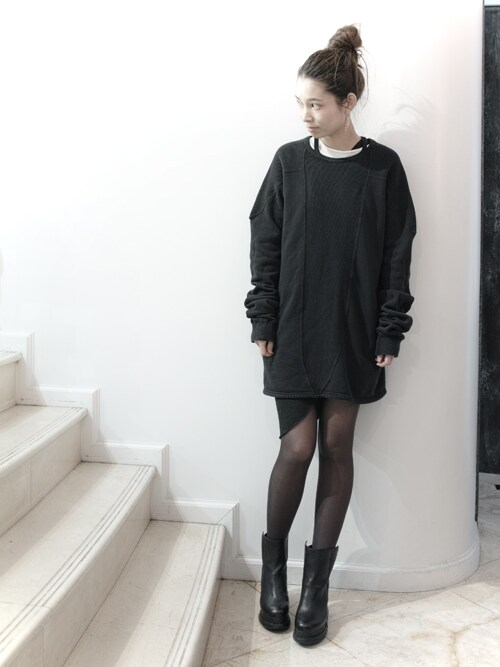 S/STEREFLAGSHIPSTOREKYOTOさんの「HOLD UP LONG SLEEVE SWEAT  [BLACK](SISTERE)」を使ったコーディネート