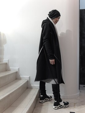 S/STERE FLAGSHIP STORE KYOTO|S/STEREFLAGSHIPSTOREKYOTOさんの「SEMI-CIRCULARED COAT(SISTERE)」を使ったコーディネート