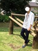 野中 大暉さんの「VANS ヴァンズ DECK V3628SW NAVY(VANS|バンズ)」を使ったコーディネート