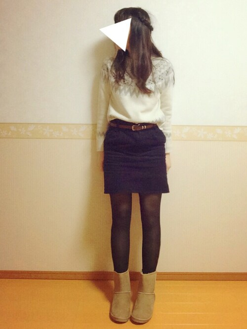 WAKO*☻さんの「ベルト付きコーデュロイタイトスカート(OLIVEdesOLIVE)」を使ったコーディネート