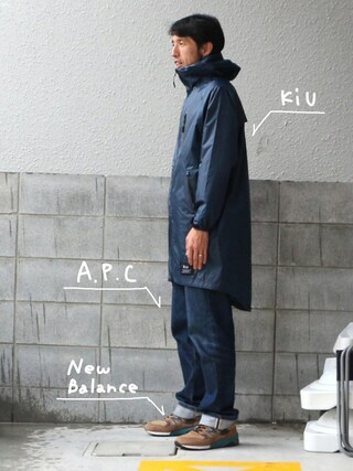 KiU|kiu-officialさんの「LOW STANDARD 16P(A.P.C.|アー・ペー・セー)」を使ったコーディネート