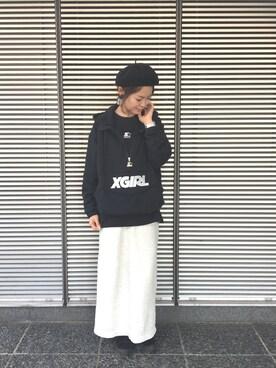 X-girl 名古屋 イトウアヤナさんのコーディネート