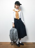 konabeさんの「L.H.P women/ADAMPATEK/Brians Time/HEATHERED NYLON BACKPACK(AMPK-B026)(ADAM PATEK|アダムパテック)」を使ったコーディネート